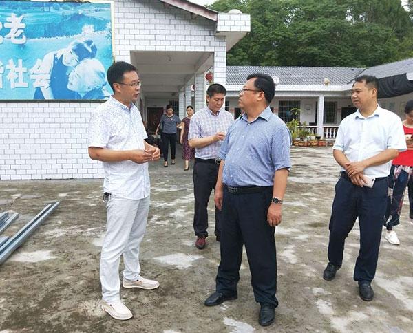 蓬安领导视察工作